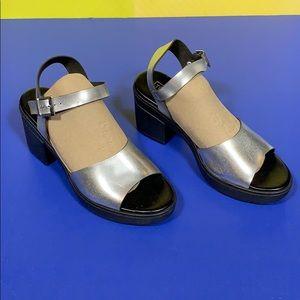 Topshop Silver Strappy Heel Sandals 37